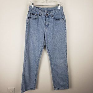 Riders Light Wash Mid-Rise Relaxed Fit Jeans 30 in